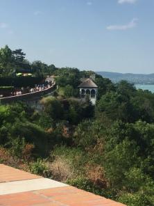 From the peninsula in Lake Balaton